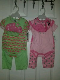 3 to 6 months $8each brand new or 14 fo.r two