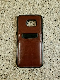 Galaxy s7 edge, brown leather case