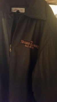 black the negro leagues all star full zip jacket