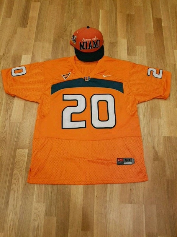 new style d9c88 22aba Miami Hurricanes Ed Reed Jersey and Snapback