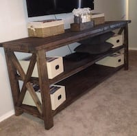 Brown wooden frame tv stand Palmdale, 93550