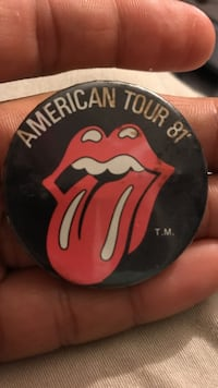 round rolling Stones American Tour 81 button pin Crownsville, 21032