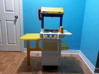 Blue and yellow plastic kitchen play set Brampton, L6Y 5C9