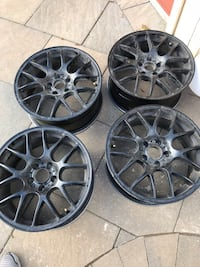 mesh vaga black 5x120 72.56 satin black rims -Black Bmw rims for sale