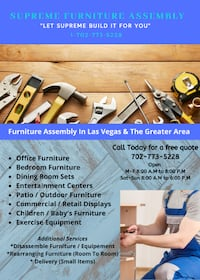 Furniture Assembly / Professional Assemblers / We Will Put it Together  Las Vegas