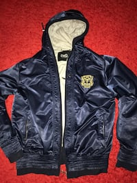 D & g zip-up läderjacka