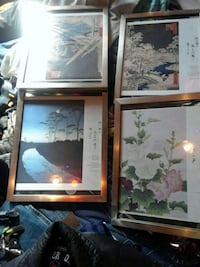 4 stainless steel frames with Asian prints Albuquerque, 87112