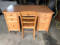 Solid Wooden desk and chair Rockville Centre