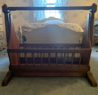 Vintage 1840 hand made cradle  West Chester