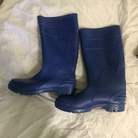 Pair of blue work boots Los Angeles