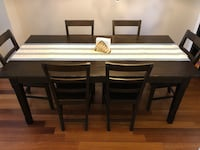 Dining room table and chairs Toronto, M2J 2M5