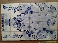 Talavera white and blue floral tile Las Cruces, 88012
