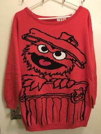 Women's Sesame Street Oscar the Grouch sweater  Toronto, M2M 0A8