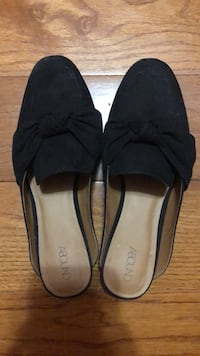 Pair of black suede flats New York, 10314