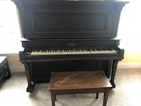 brown wooden upright piano with chair Damascus, 20872