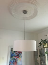 White Drum Ceiling Light