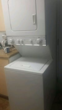 white stackable washer and dryer Greeley, 80634