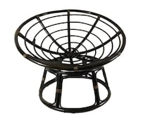 Rattan Papasan Chair with matching Foot Stool with Cushions