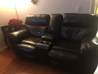 black leather home theater sofa Pelham, 35124