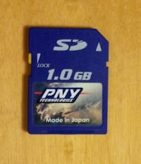 One PNY 1.0 Secure Digital SD card