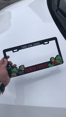 Senor Frogs License Plate
