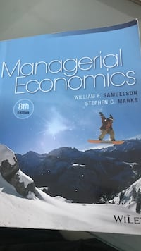 Managerial Economics by William F. Samuelson book Mississauga, L5A 1J9