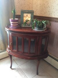 Vintage Chocolate Table Liquor Cabinet Suffield, 06078