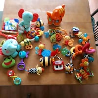 assorted plastic toys with box Boisbriand, J7G 1J5