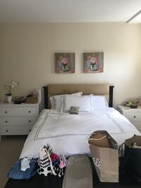 Beautiful queen bed! Like new. Super comfortable.