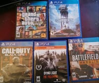 six assorted-title Sony PS4 cases Modesto, 95351