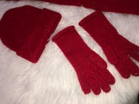 pair of red suede gloves West Kendall, 33193