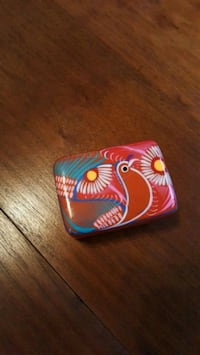 Trinket box, pottery had made, painted in Mexico. Made for Disney Falls Church, 22042