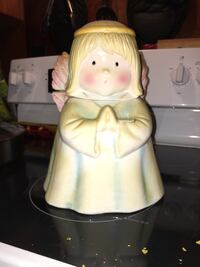 woman praying precious moments ceramic figurine