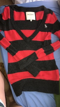 Abercrombie Red and Gray Striped Sweater Bossier City, 71112