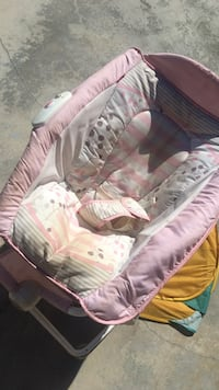 baby's pink and white rock and play sleeper Montclair, 91763