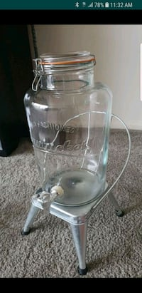 2 Gallons Glass Beverage Dispenser with Stand Riverdale Park, 20737