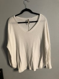 white v-neck sweater Oxnard, 93030