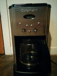 black and stainless steel Cuisinart coffeemaker