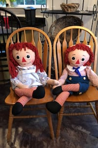 Raggedy Ann and Andy 1960's collector dolls Brick, 08724