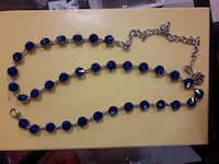 blue and sliver chain belt