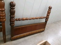 brown wooden headboard and footboard antique 1930s Dayton, 45404