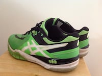 Pair of black-and-green Asics runing shoes Norwalk, 06851