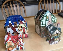 2ceramic Dept 56 Christmas  tree ornaments from 1993
