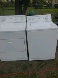White on white washer and dryer work say 1 in good Indianapolis