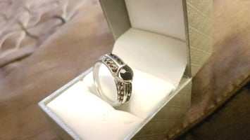 Red stone sterling silver ring