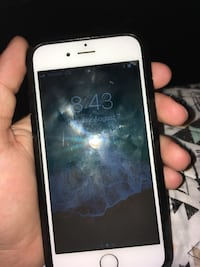 White iphone 6s with black case Newport News, 23608