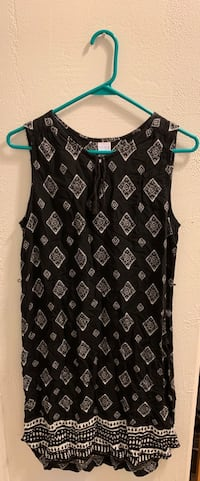 Black and white floral scoop neck sleeveless dress Cottonwood, 96022