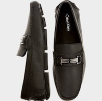 Pair of black calvin klein leather horse-bit loafers Nashville, 37013