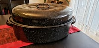 "Granite Ware 19 "" Oval Roaster w/Lid (never used)"