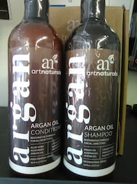 two black Argan conditioner and shampoo bottles Evansville, 47714